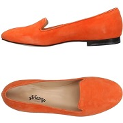 Mocassins femme orange