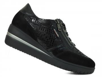 Chaussure compensée noire femme