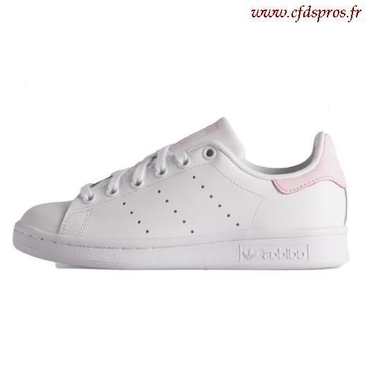 Adidas stan smith femme blanc rose pale - Chaussure ...