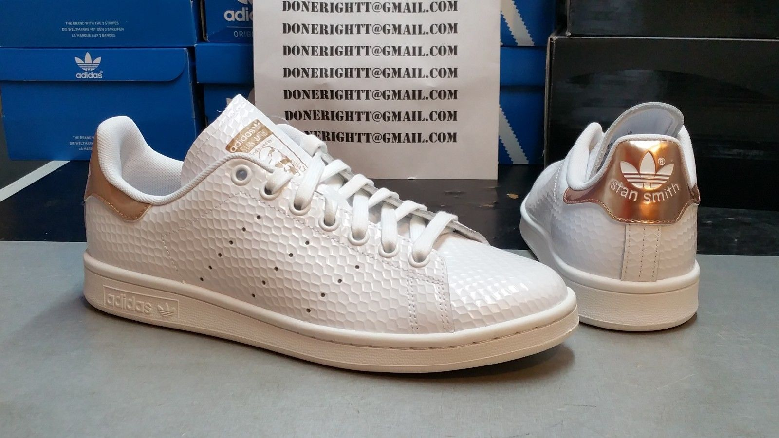Stan smith femme rose gold