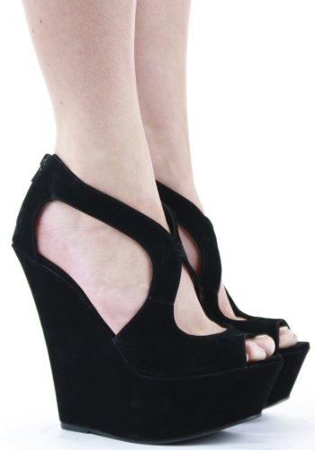 Shoefashionista - sandales femme plateforme talon haut compensées chaussures