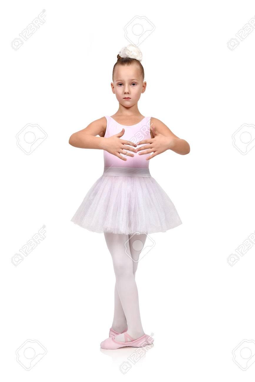 Ballerine blanche fille danse