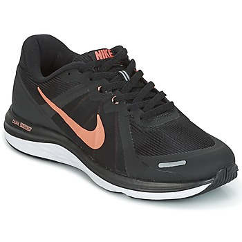 Chaussures running nike dual fusion femme gris / rose