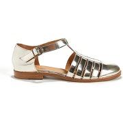 Chaussure Fermé Bout Femme Sandale Plate Lescahiersdalter P8O0wnk