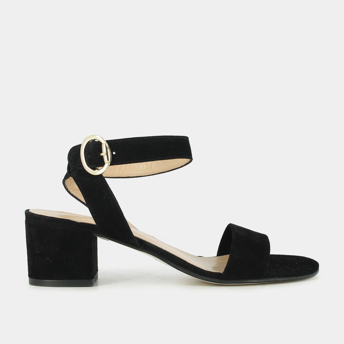 Sandale femme talon bloc