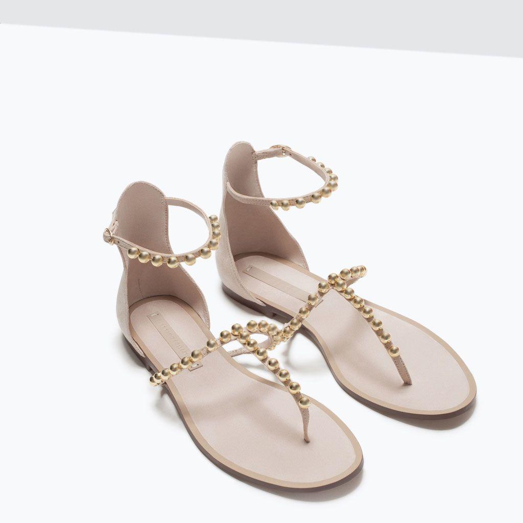 Sandales plates femme zara