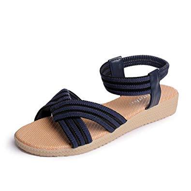 Sandale femme plate elastique