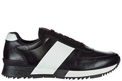 Sneakers homme noir cuir