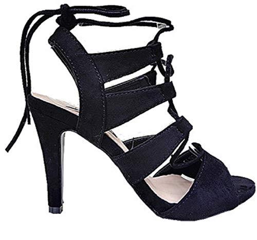 Chaussure compensée noire lacet