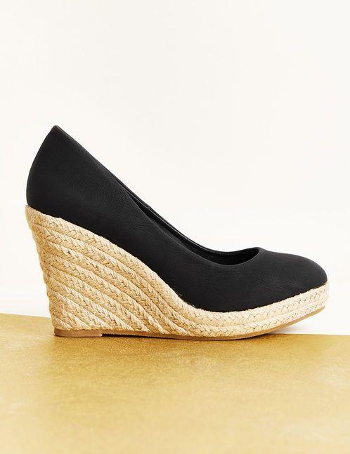 Chaussure compensée femme cuir