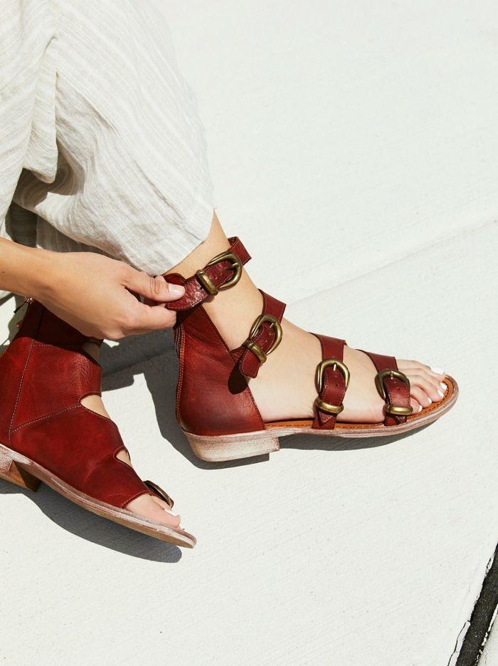 Sandale femme plate