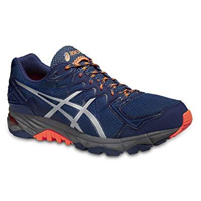 Chaussure trail running homme asics gel kanaku 2 noir orange asics