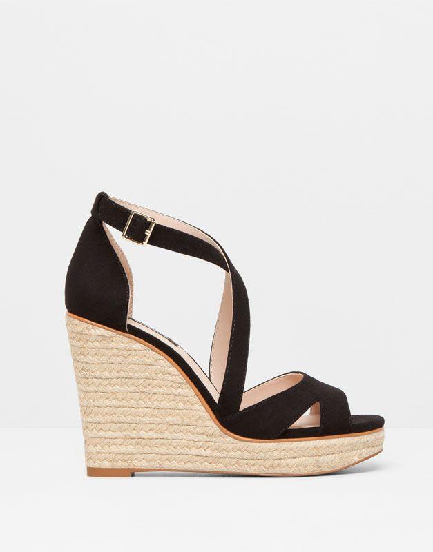 Chaussures compensées corde femme