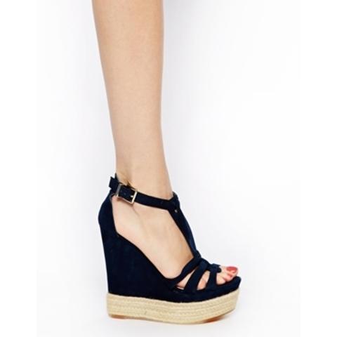 Chaussure compensée noir bershka