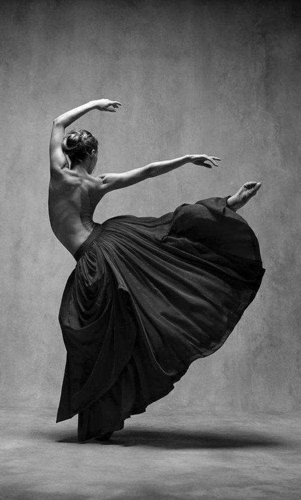 Ballerine blanche danse