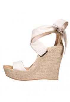 Chaussure compensée blanche