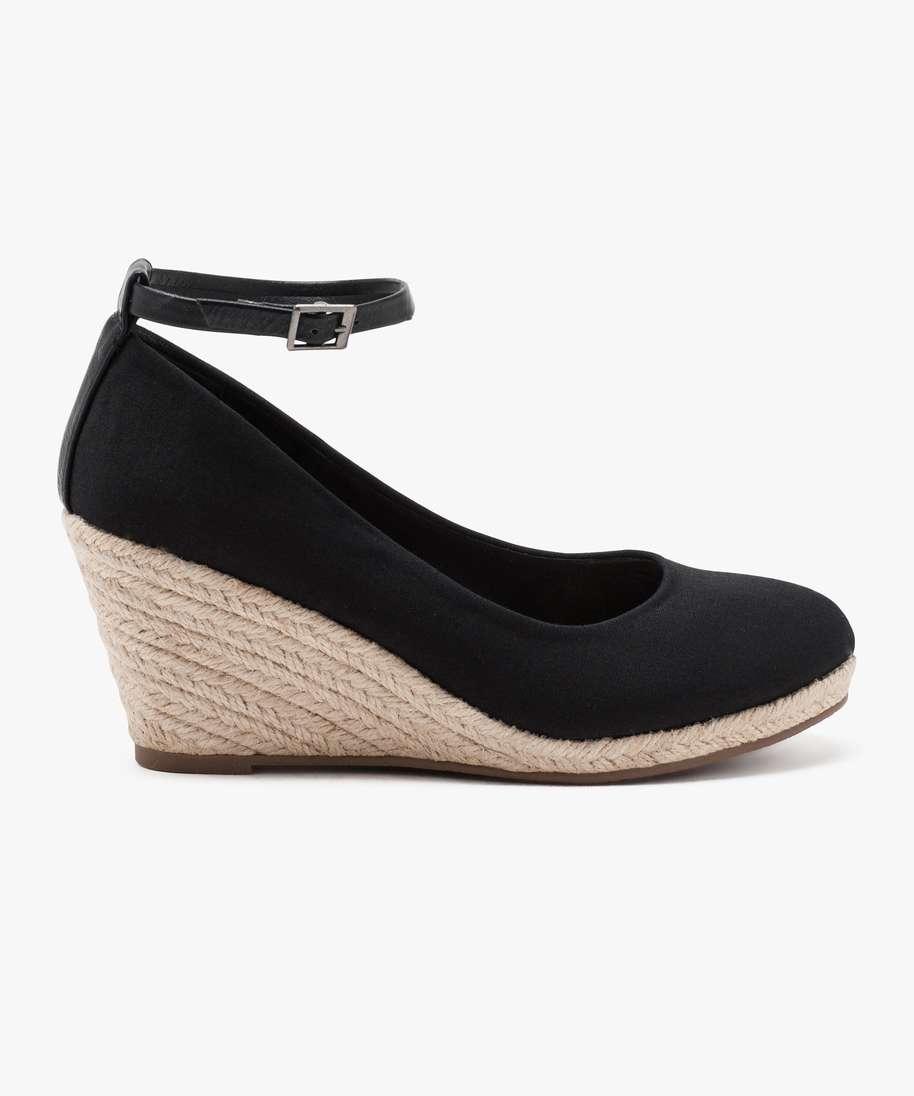 Femme Compensé Gemo Chaussure Lescahiersdalter Talon vn0m8OyNw