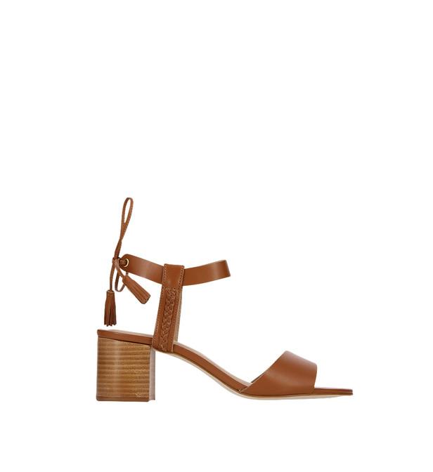 Sandale femme talon large