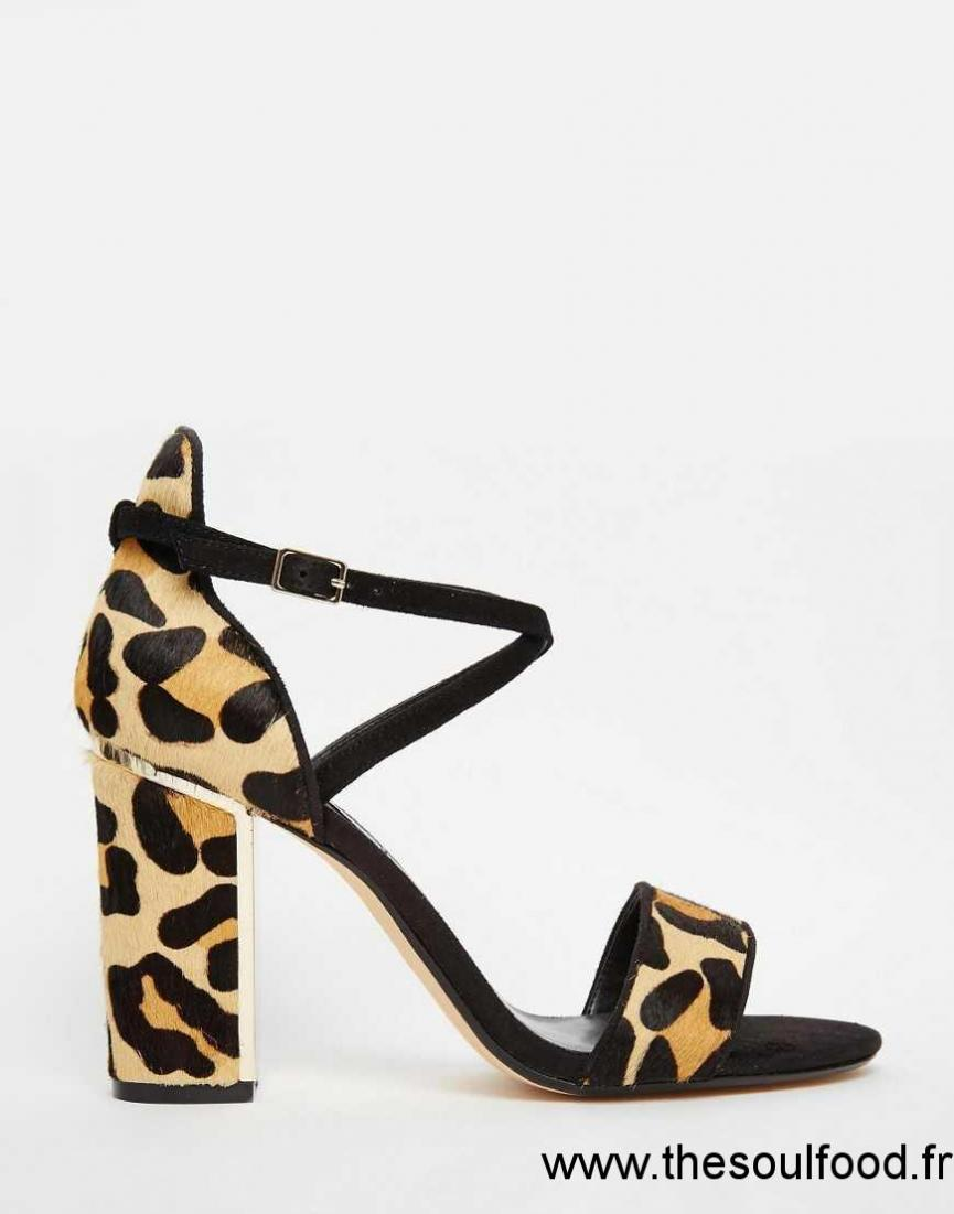 Sandale femme leopard