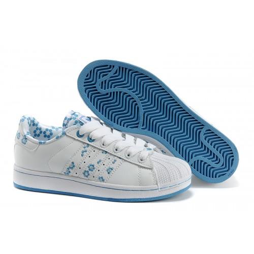Chaussure running femme adidas superstar 2 blanc/or