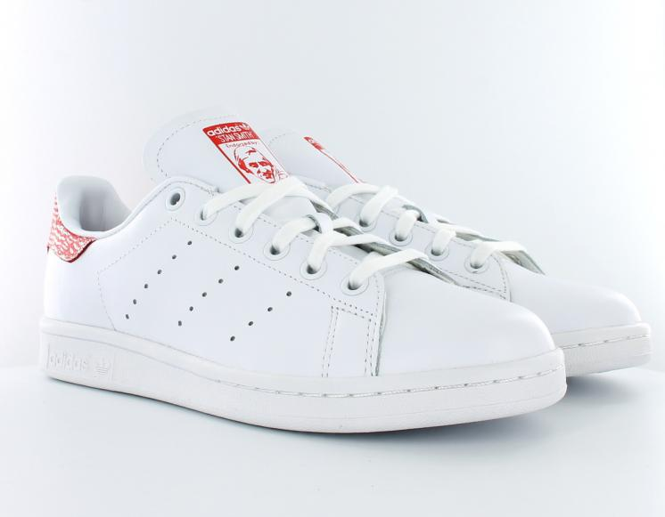 Adidas stan smith femme blanche et bleu