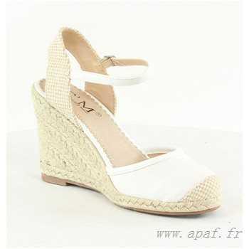 Ouverte Chaussure Ouverte Lescahiersdalter Compensée Compensée Blanche Blanche Chaussure qSMzVpU