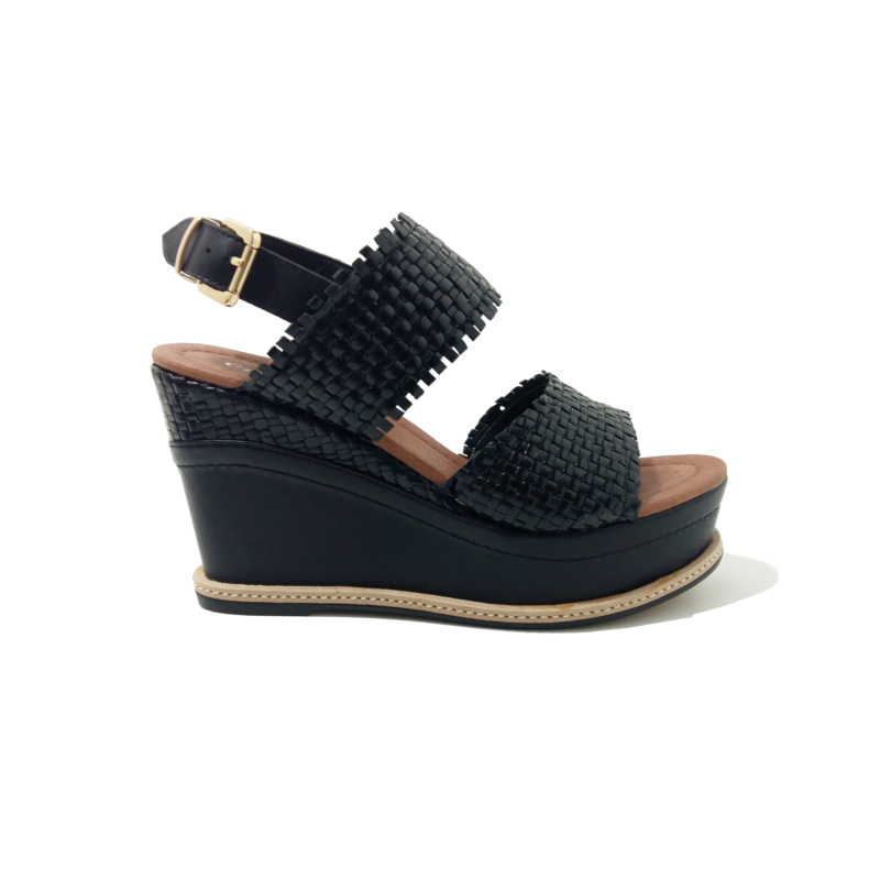 Chaussures compensees cafe noir