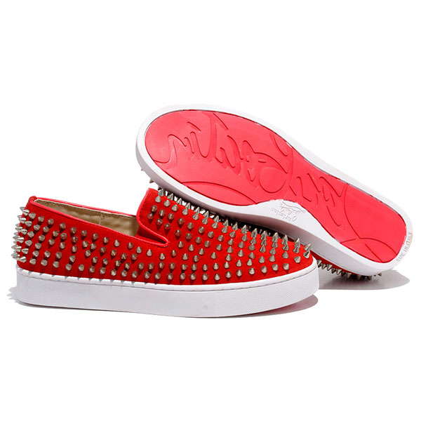 Louboutin homme sneakers rouge