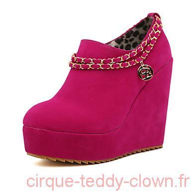 Chaussure a talon compense rose
