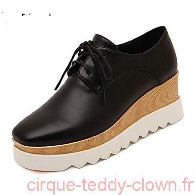 Chaussure compensée noir ferme