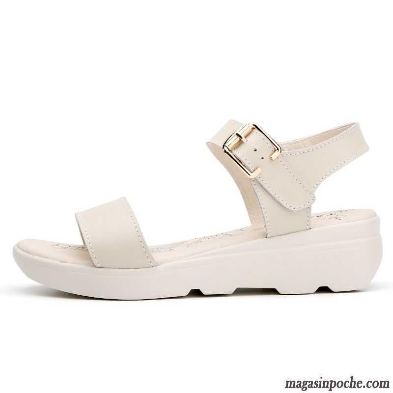 Sandale femme cuir pas cher