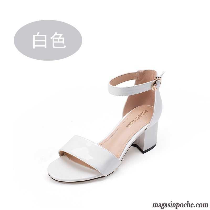 Sandales femme cuir blanc