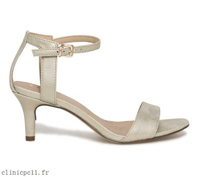 Sandale dorée femme pas cher