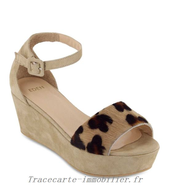 Chaussure compensee zebre