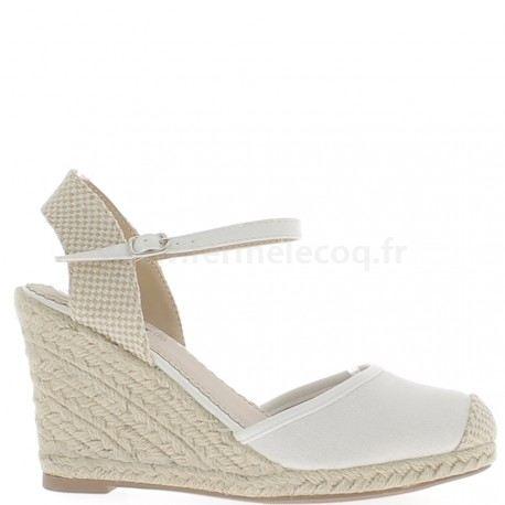 Chaussure compensée femme blanc