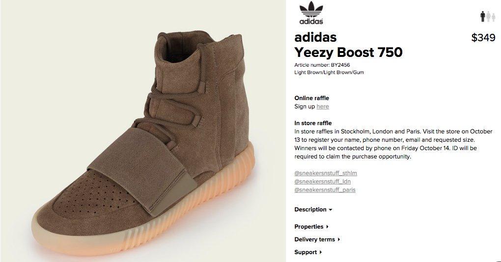 Sneakersnstuff paris yeezy