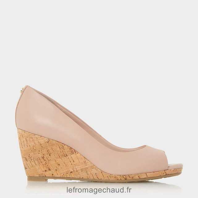 Chaussures compensées rose 37