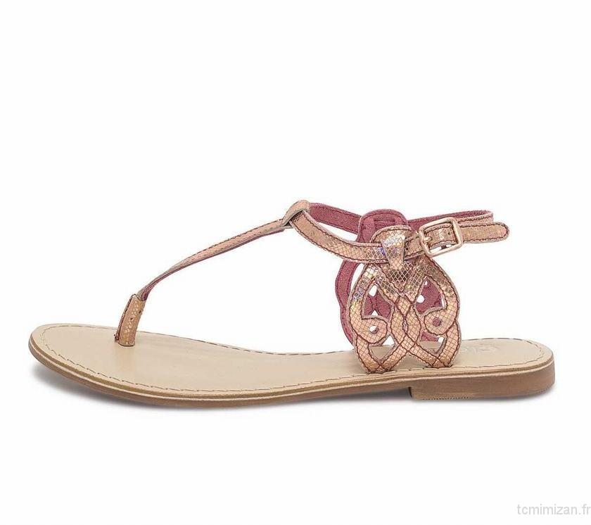 Tong cuir femme luxe