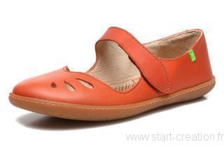 Ballerine femme orange