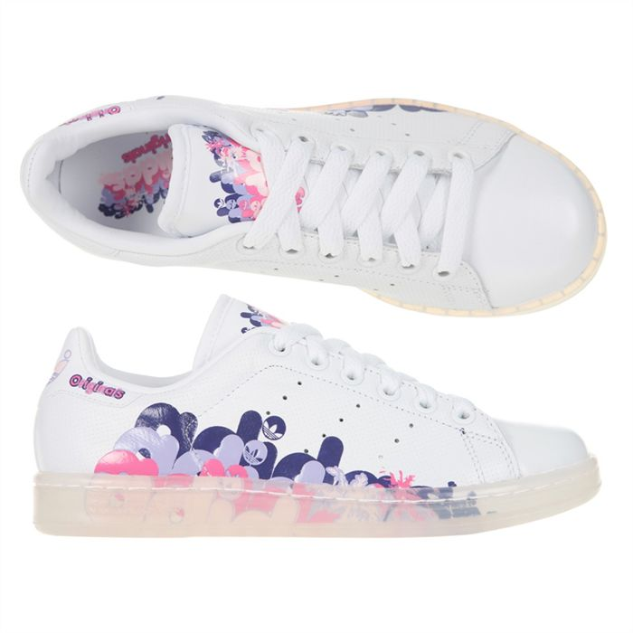 Stan smith femme rose strass