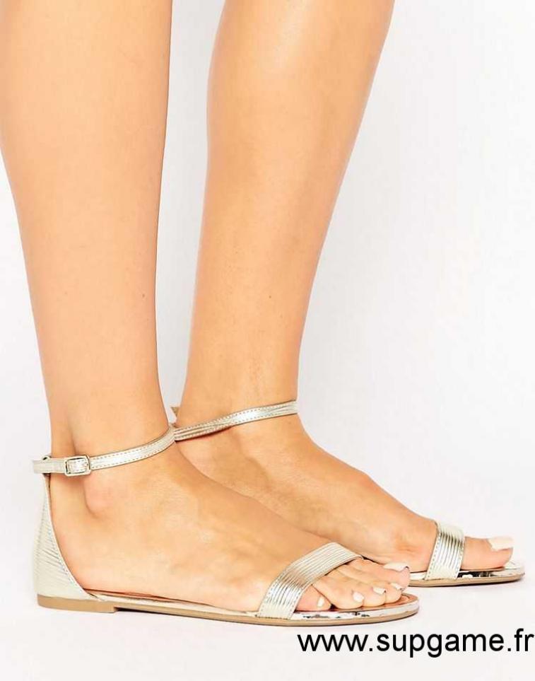Sandale femme plate en cuir