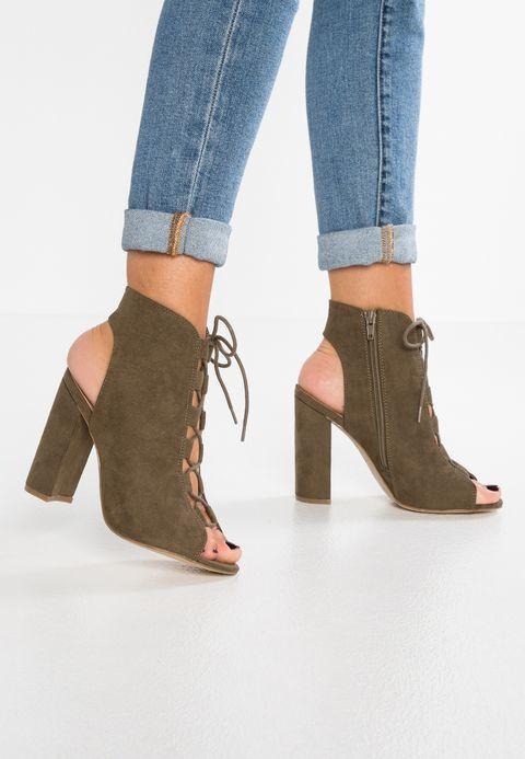 Sandale talon femme kaki