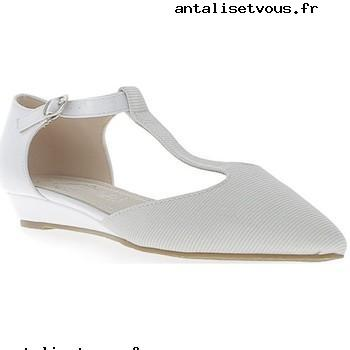 Ballerines ouvertes blanches