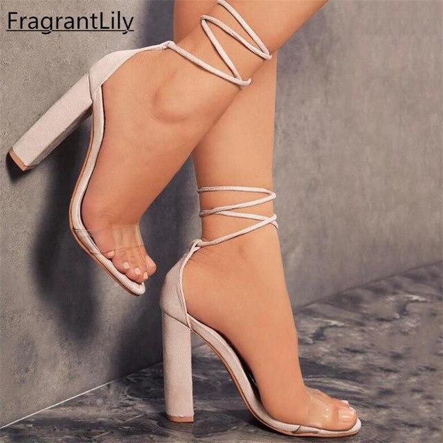 Sandale femme transparente