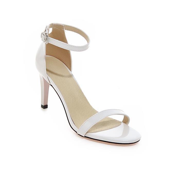 Sandale femme blanche talon