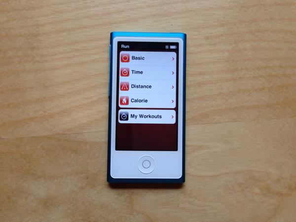 Nike running ipod nano 7