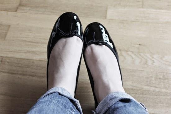 Ballerines repetto vernis noir