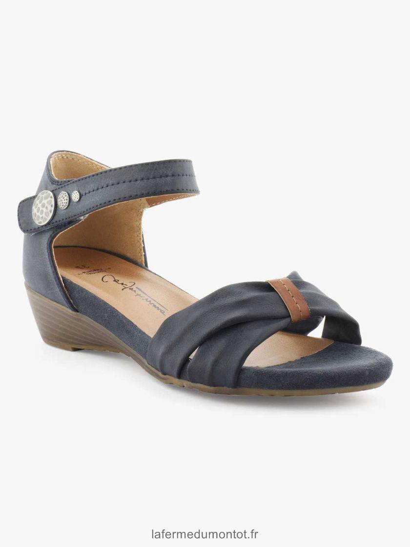 Sandales femme petit talon carré