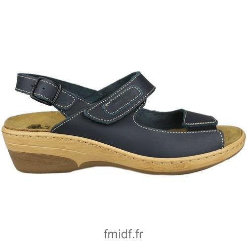 Sandale femme velcro