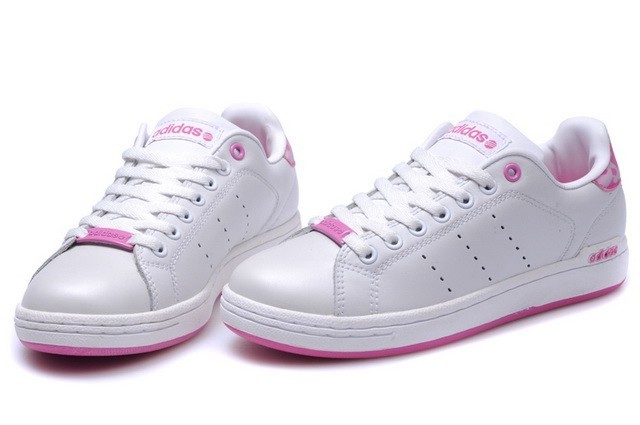 Stan smith femme rose blanc